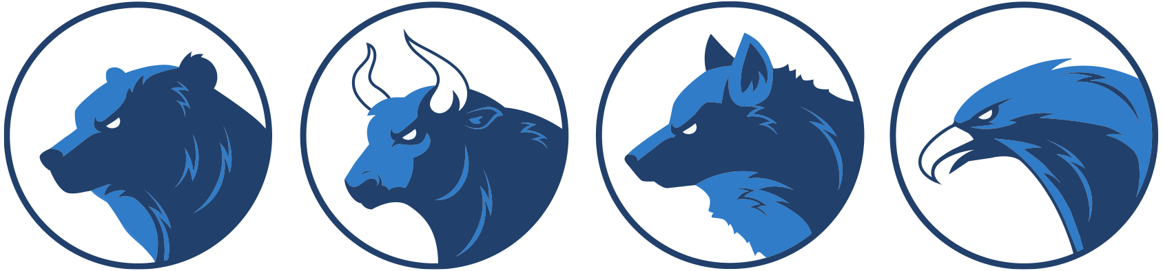 Bear-Bull-Wolf-Eagle-Market-Icons