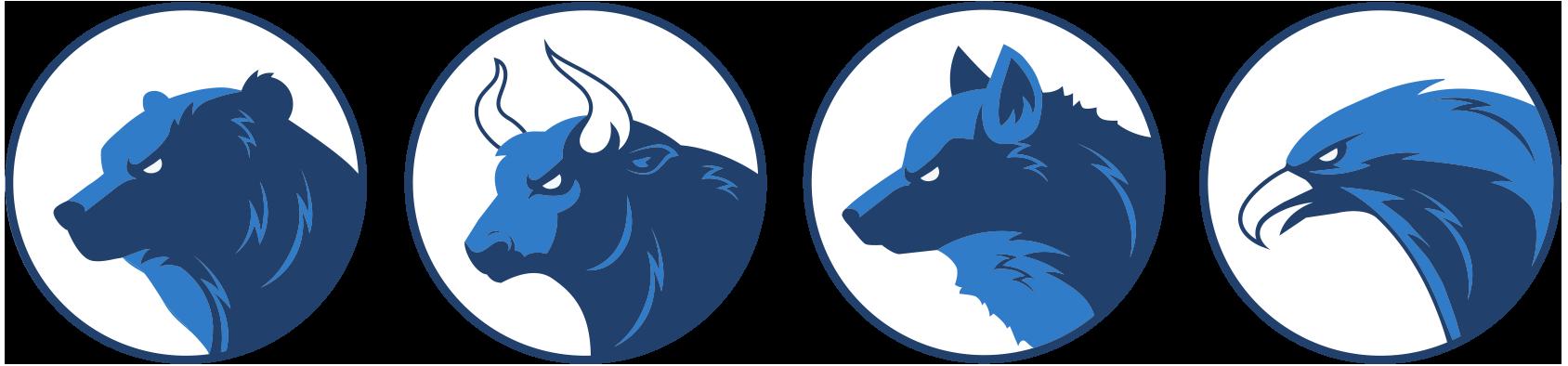 Bear-Bull-Wolf-Eagle-Market-Icons