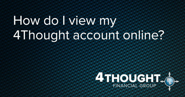 How do I view my 4Thought account online?