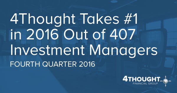 4Thought Takes #1 Out of 407 Investment Managers