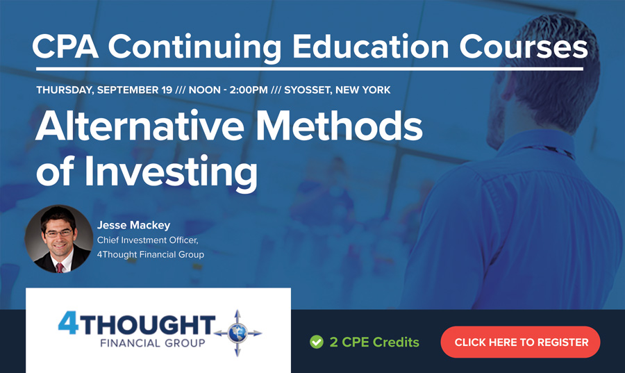CPA Continuing Education Course: Alternative Methods of Investing