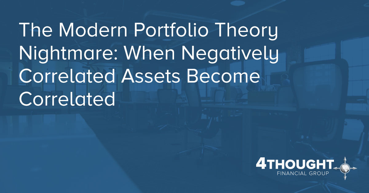 The Modern Portfolio Theory Nightmare: When Negatively Correlated Assets Become Correlated