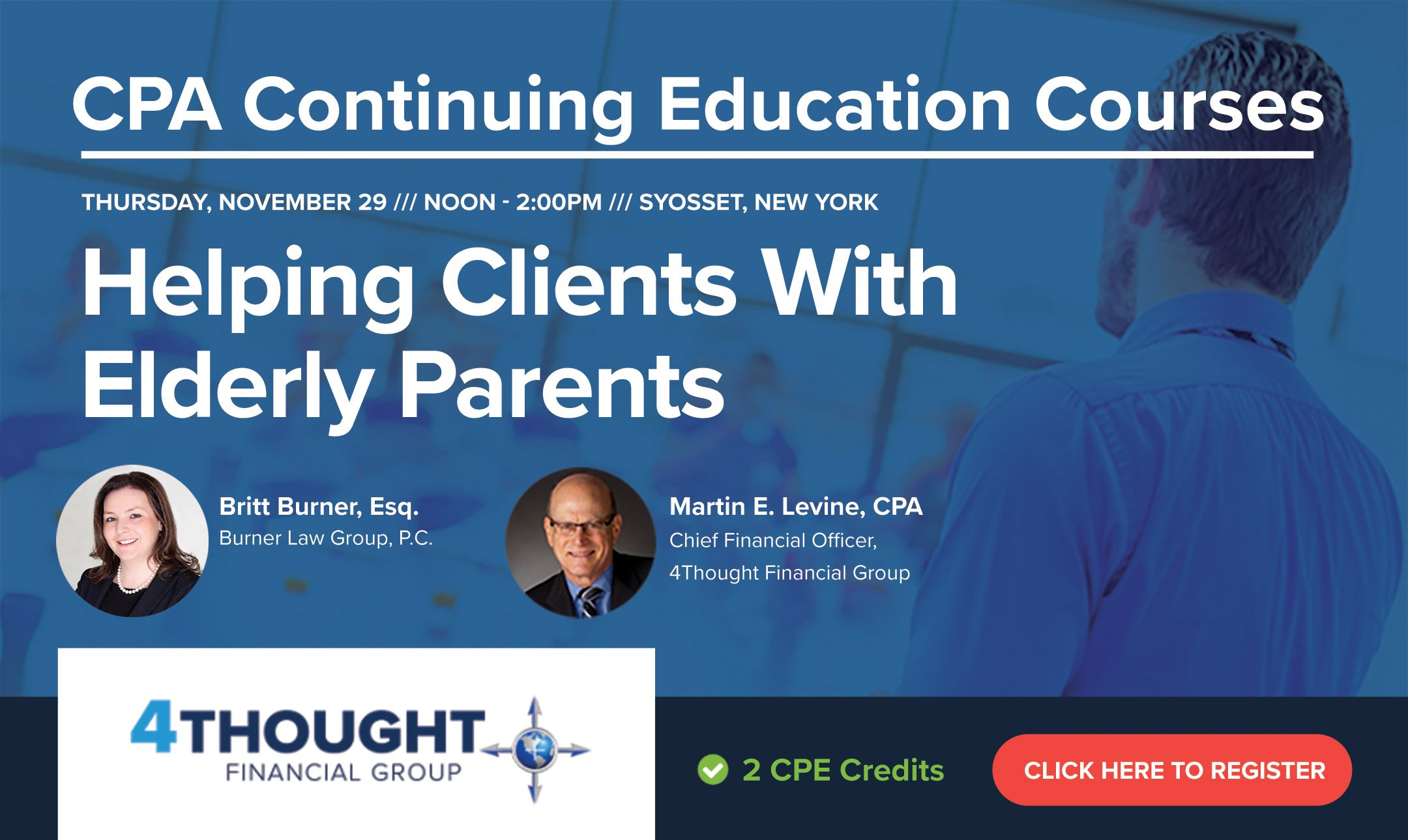CPA Continuing Education Course: Helping Clients With Elderly Parents