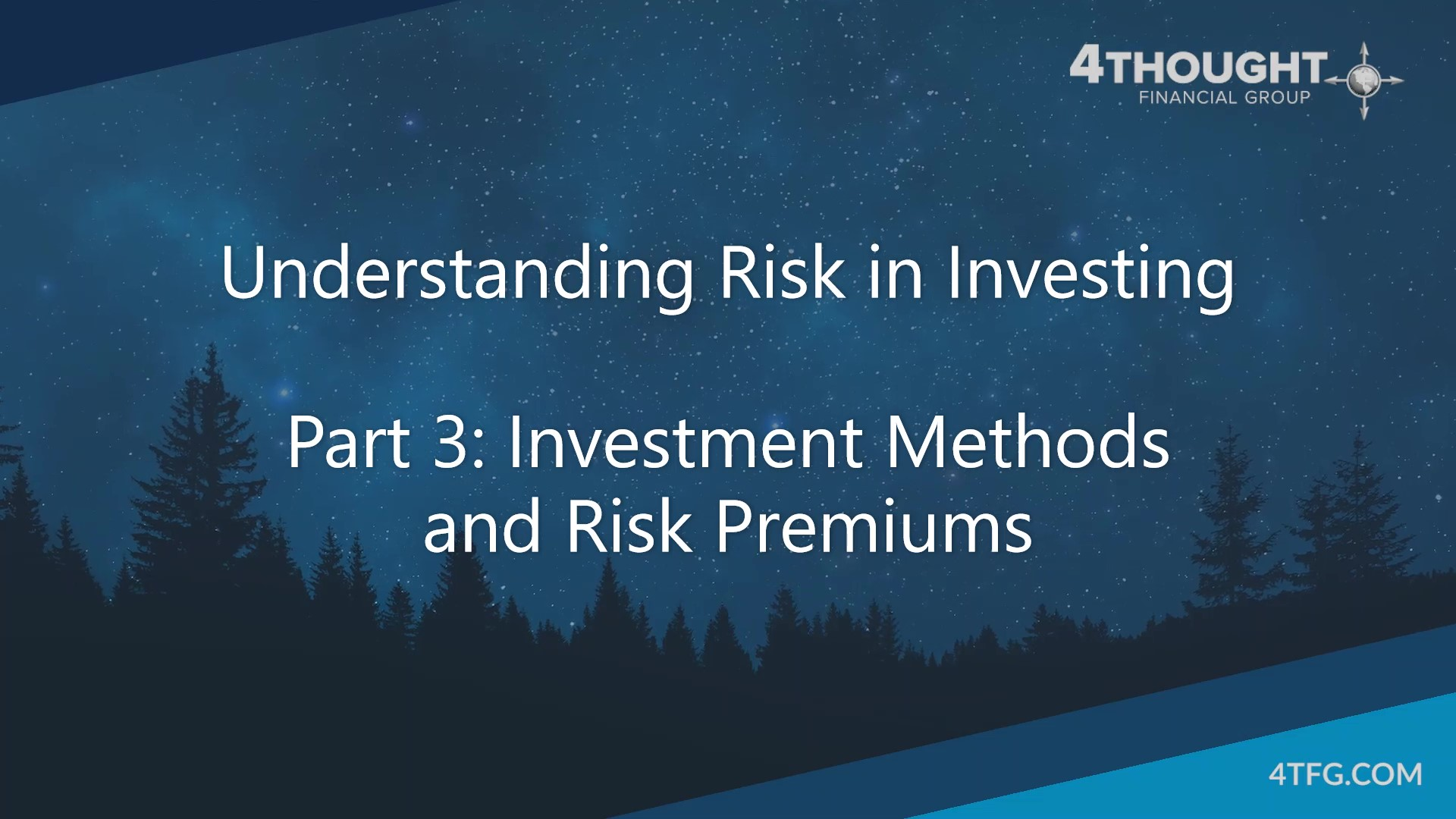Understanding Risk in Investing - Part 3 - Investment Methods and Risk Premiums